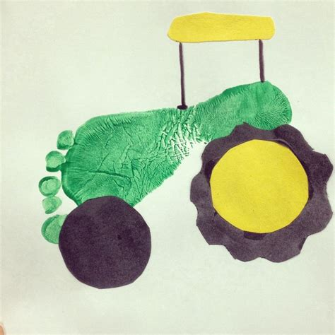 green crafts for footprint green tractor craft for on the farm