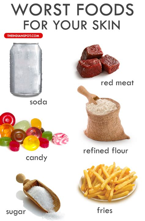 food for worst foods for your skin theindianspot