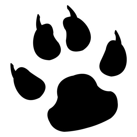 lion paw print tattoos clipart best