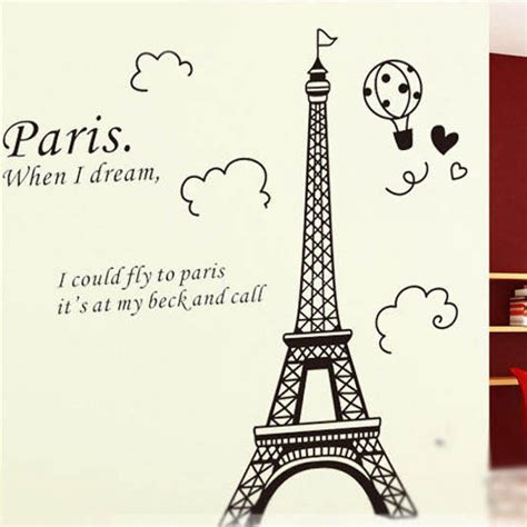 wall stickers au eiffel tower wall sticker wall decals vinyl wall