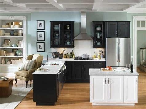 light blue kitchen walls black white grey kitchen with light blue walls