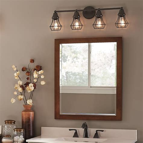 4 light bathroom vanity fixture master bath kichler lighting 4 light bayley olde bronze