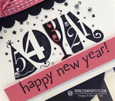 new year card ideas stin up happy new year card stin pretty