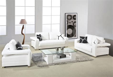 modern sofa living room white leather sofa with arms and glass top table for small