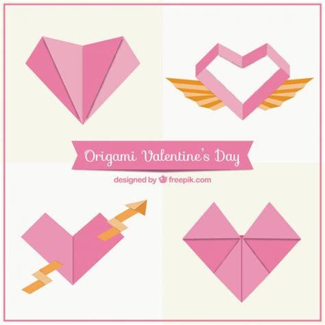 origami software free origami hearts pack vector free