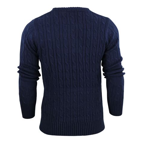 mens cable knit sweater mens jumper brave soul mao cable knit crew neck sweater ebay