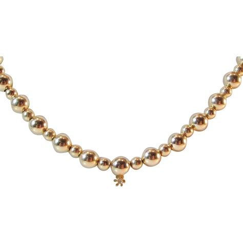 add a bead necklace 14kt yellow gold add a bead necklace with small
