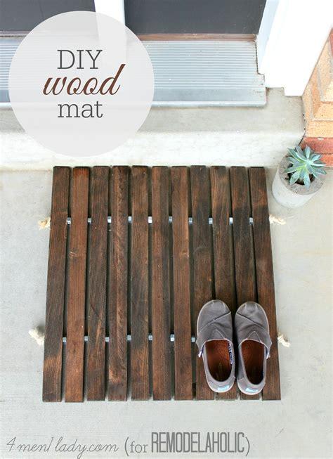 craft projects for guys diy wooden door mat decor hacks
