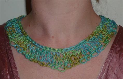 knitted necklace sea foam knitted necklace epheriell designs