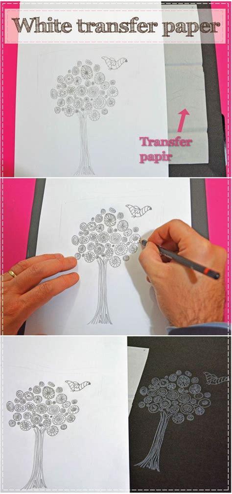 craft transfer paper grafitni papir bele barve decoart das198 white transfer