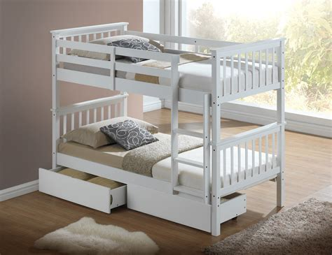 bunk beds white modern white childrens bunk bed with drawers