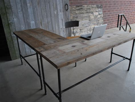 modern rustic desk l shape modern rustic desk made of reclaimed wood choose your