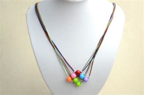 how to make beaded necklace with thread how to make a string bead necklace pictures photos and