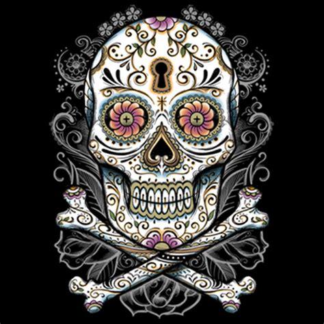 sugar skull t shirt custom design big floral sugar skull