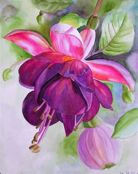 flower painting pictures paintings and flower paintings in watercolor and