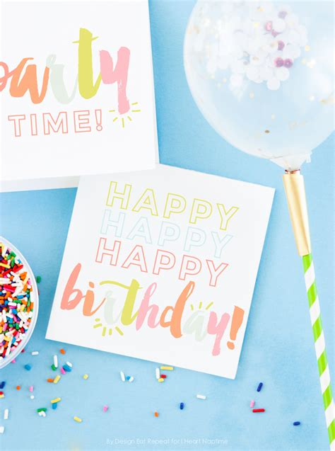how to make a birthday card for free free birthday printables eighteen25