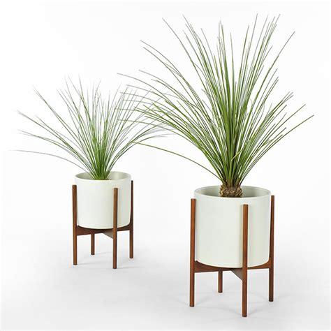 modern white planter modernica study planter with stand white modern