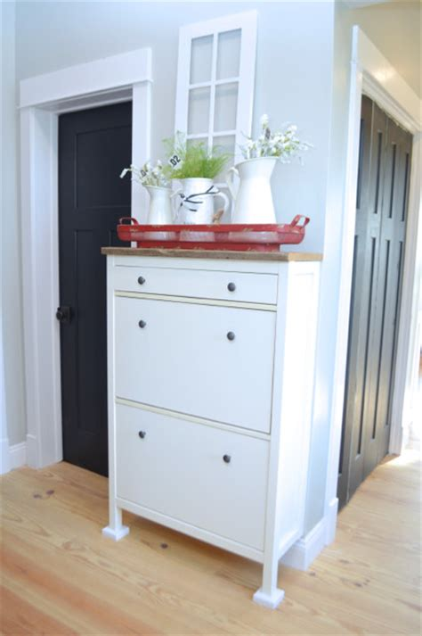 ikea shoe rack hack a simple ikea hemnes shoe cabinet hack newlywoodwards