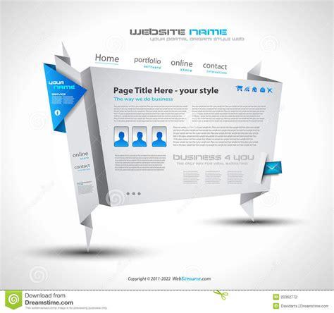 origami website origami website design for business stock