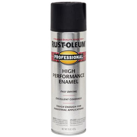 spray painting enamel shop rust oleum professional black enamel spray paint