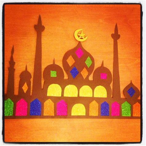 eid craft for ramadan decoration craft mosque ramadan