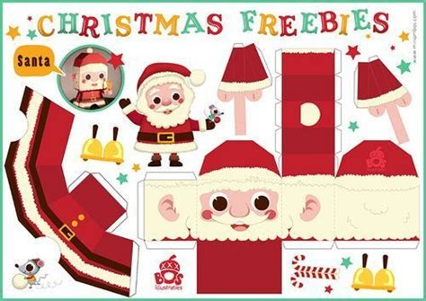 santa paper craft free make a santa reindeer tree