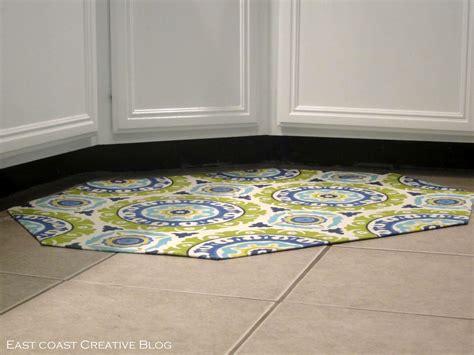 kitchen sink rug mat diy fabric floor cloth floor mat east coast creative