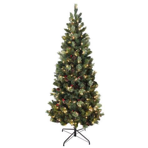 pre lit decorated trees sale 6ft 180cm slim green needle pine artificial pre lit