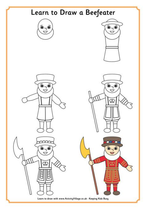 learning to draw learn to draw a beefeater