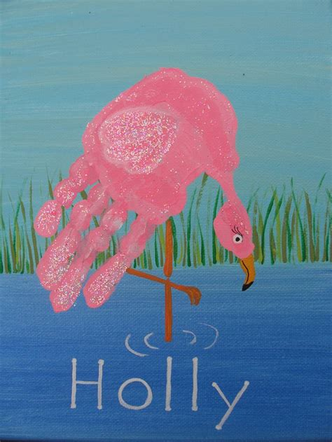 flamingo craft projects flamingo handprint for the flamingos
