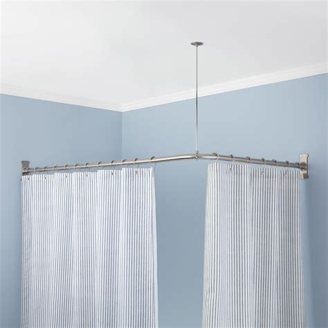 bathroom shower rods corner shower curtain rod shower curtain rods bathroom
