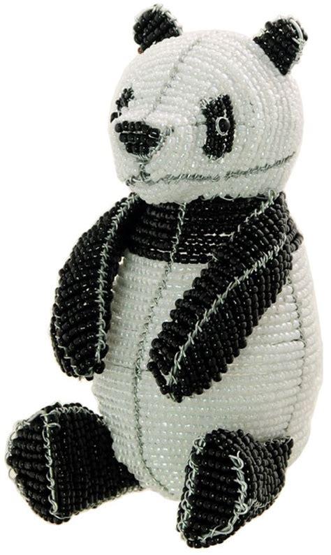 beaded panda beaded panda wireworx beaded animal figurine