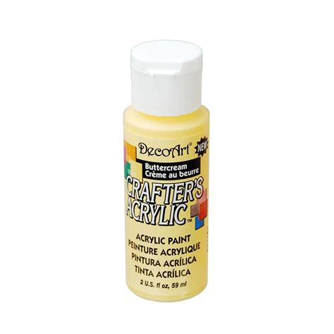 acrylic paint yellow decoart crafter s all purpose acrylic paint 59ml yellow