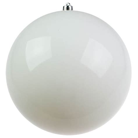 large white baubles white baubles shiny shatterproof single 300mm baubletimeuk