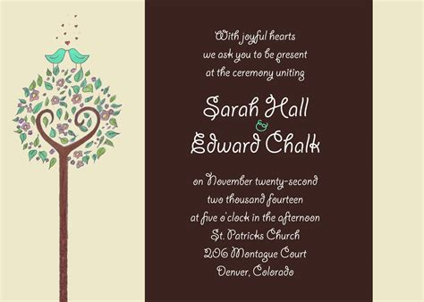 after invitations invitation wording reception after ceremony