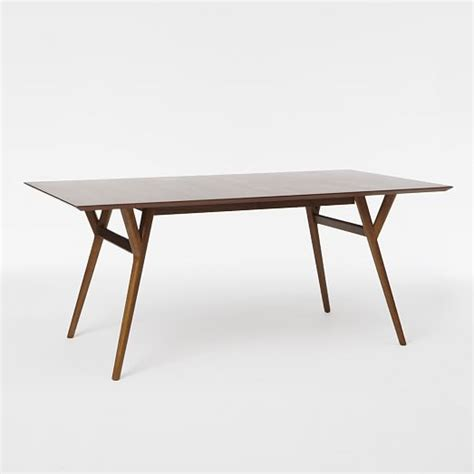 mid century dining tables mid century expandable dining table west elm