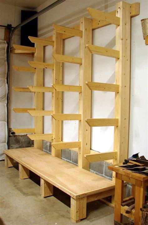 woodworking shop storage best 25 lumber storage ideas on