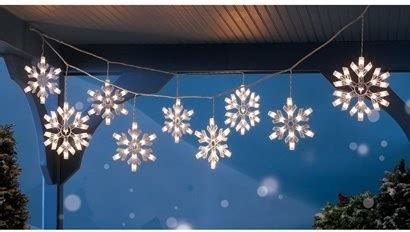 outdoor snowflake string lights 9 clear snowflake icicle string lights modern