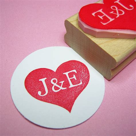 rubber st initials personalised carved rubber st by skull and