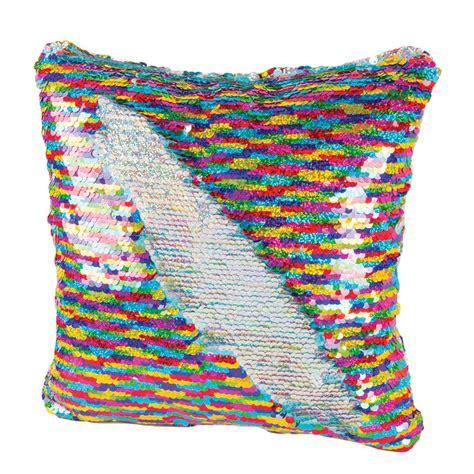 Style Quiz Home Decor magic sequin pillow rainbow silver