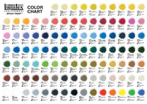 spray paint colors new liquitex spray paint color chart