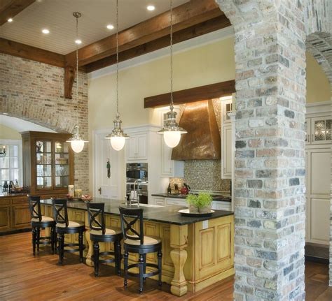 Rustic Home Interior Ideas interior brick wall living room rustic with arched doorway