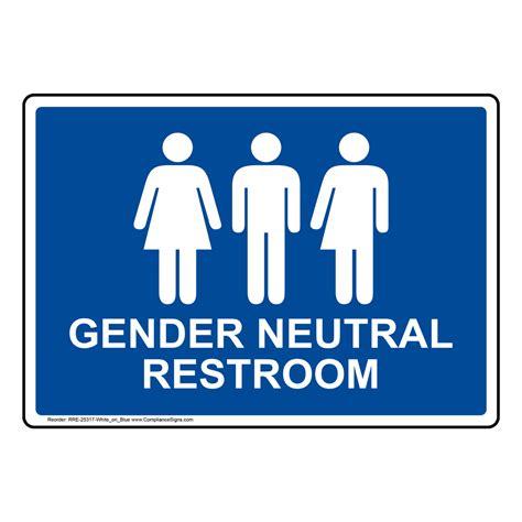 Gender Neutral Bathroom by Gender Neutral Restroom Sign Rre 25317 Whtonblu Restrooms