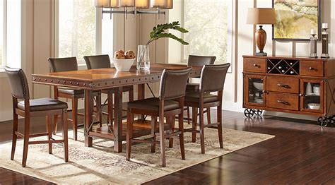 dining room counter height sets hook pecan 5 pc counter height dining room dining