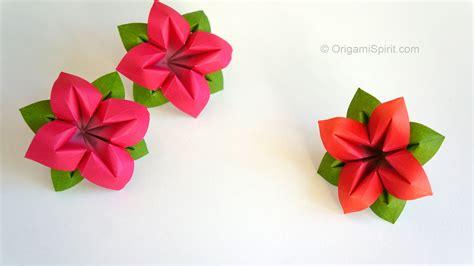 flor origami origami flower flor de papel 4 p 233 talos