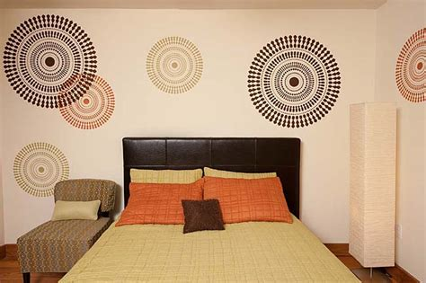wall stencils for bedroom bedroom decorating idea modern stencils by cutting edge