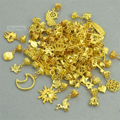 how to make metal jewelry charms new 50pcs mixed wholesale metal charms gold big bead