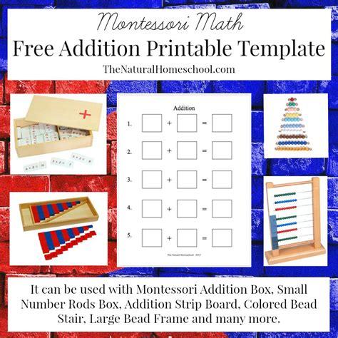 montessori math free montessori math addition printable money saving 174