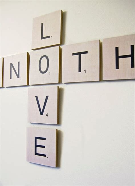 create a scrabble word scrabble tile wall wooden create your own word