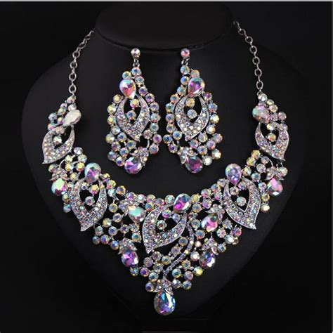 Expensive Luxuyry Colorful Bridal Jewelry With